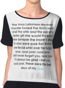 Rural Juror Lyrics Chiffon Top