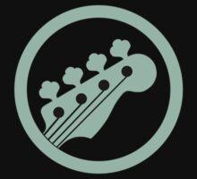 Bass guitar green One Piece - Short Sleeve