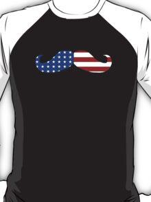 Patriotic Funny Mustache  T-Shirt