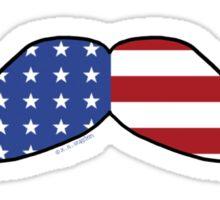 Patriotic Funny Mustache  Sticker