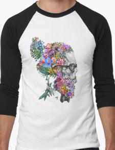 hipster skull 2 Men's Baseball ¾ T-Shirt