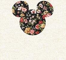 Mickey Floral Zipped Hoodie