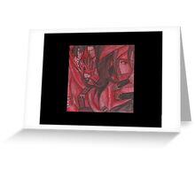 Vincent Valentine in Red  Greeting Card