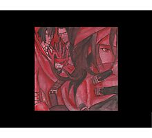 Vincent Valentine in Red  Photographic Print