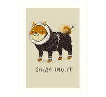 shiba inu-it Art Print