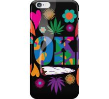 Sixties style mod pop art psychedelic colorful Toke marijuana design iPhone Case/Skin