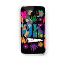 Sixties style mod pop art psychedelic colorful Toke marijuana design Samsung Galaxy Case/Skin