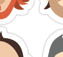 Trey, Fish, Mike, Page as Vector Characters Sticker