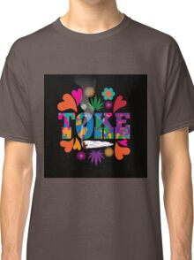 Sixties style mod pop art psychedelic colorful Toke marijuana design Classic T-Shirt