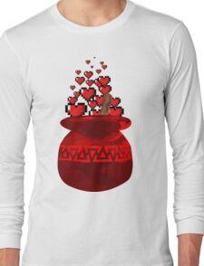 Red Potion Hearts w/o Cartridge Long Sleeve T-Shirt