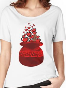 Red Potion Hearts w/o Cartridge Women's Relaxed Fit T-Shirt
