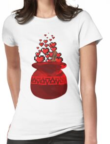 Red Potion Hearts w/o Cartridge Womens Fitted T-Shirt