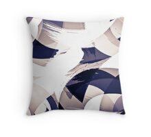 Blue Arches Throw Pillow