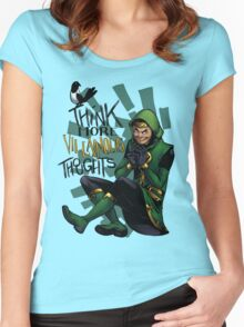 Think More Villainous Thoughts Women's Fitted Scoop T-Shirt