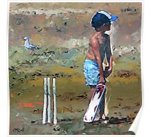 Beach Cricketer Poster