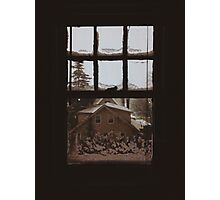 9:04, Waking up to snow Photographic Print