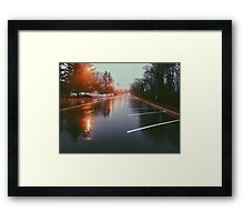 7:42, Walked out of a forest to find rain Framed Print
