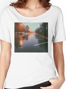 7:42, Walked out of a forest to find rain Women's Relaxed Fit T-Shirt