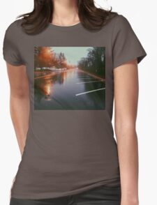 7:42, Walked out of a forest to find rain Womens Fitted T-Shirt