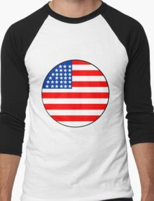 Old Glory Men's Baseball ¾ T-Shirt