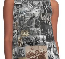 Weird Old-time Music Collage Contrast Tank