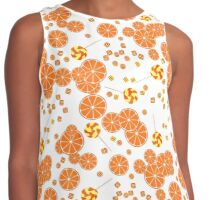 Patterns of fruit and berries. Contrast Tank