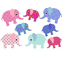 Baby Elephant Pattern Photographic Print