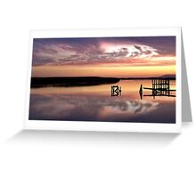Water clouds Greeting Card