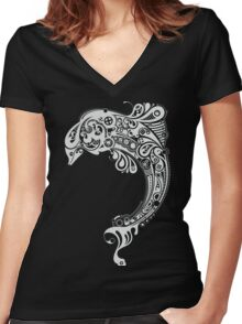 Tribal Fish Women's Fitted V-Neck T-Shirt