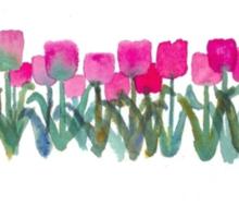 Tulips Grove Sticker