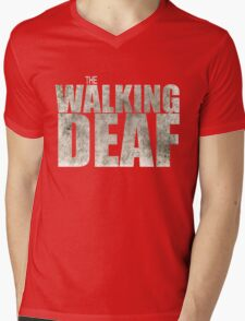 The Walking Deaf Mens V-Neck T-Shirt