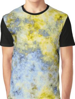 blue and yellow abstract Graphic T-Shirt