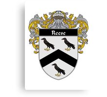 Reese Coat of Arms / Reese Family Crest Canvas Print