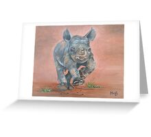 Happy Rhino Greeting Card