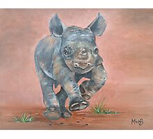 Happy Rhino Photographic Print