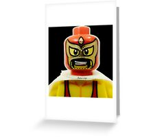 Lego Wrestler Master Buikder Greeting Card