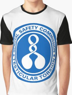 Scrotal Safety Commission Testicular Torsion Graphic T-Shirt