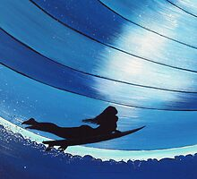 Dive In Bleu - Glide Girl Series by David  Bell