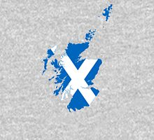 Flag Map of Scotland  Unisex T-Shirt