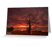 Boabs and Bushfires Greeting Card