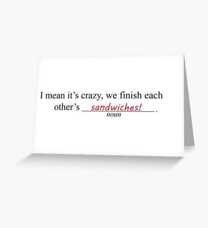 Frozen Mad Libs Greeting Card