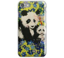 Mother and Cub in Blue iPhone Case/Skin