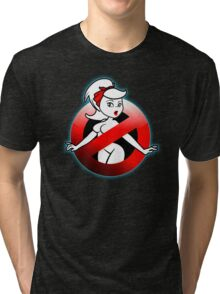 The REAL Lady Ghostbusters - Rule #63 (Logo) Tri-blend T-Shirt