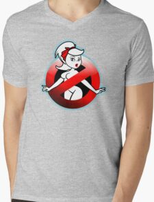 The REAL Lady Ghostbusters - Rule #63 (Logo) Mens V-Neck T-Shirt