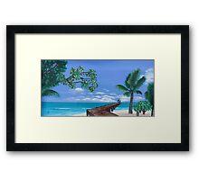 The Beach Walkway Framed Print