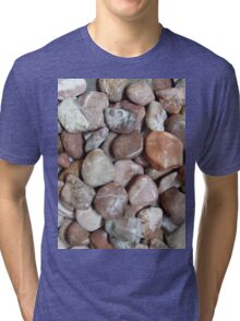 Natural stone brush coral bark Tri-blend T-Shirt