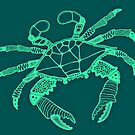 Teal Blue Crab by Casey Virata