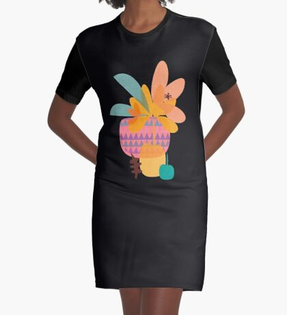 Tropical Graphic T-Shirt Dress