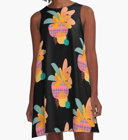Tropical A-Line Dress