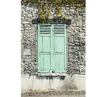 Mint Green Shutters, Giverny Photographic Print